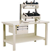 """Preparation and Repair Station for Taper 50 - 60""""Wx30""""Dx34""""H Beige"""