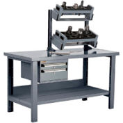 """Preparation and Repair Station for Taper 50 - 60""""Wx30""""Dx34""""H Light Gray"""