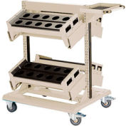 "36"" Centered Mobile Cart for Taper 40 - 32""Wx27""Dx41-1/4""H Beige"