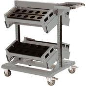 "36"" Centered Mobile Cart for Taper 40 - 32""Wx27""Dx41-1/4""H Light Gray"