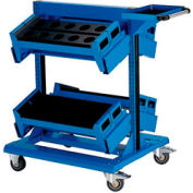 "36"" Centered Mobile Cart for HSK 63 - 32""Wx27""Dx41-1/4""H Avalanche Blue"