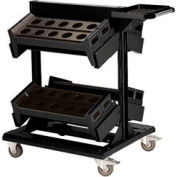 "36"" Centered Mobile Cart for 50 KM - 32""Wx27""Dx41-1/4""H Black"