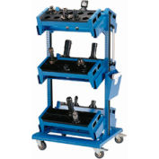 "54"" Centered Mobile Cart for HSK 50 - 32""Wx27""Dx59-1/4""H Avalanche Blue"
