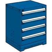 """Rousseau Metal Heavy Duty Modular Drawer Cabinet 4 Drawer Bench High 24""""W - Avalanche Blue"""