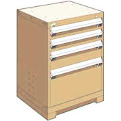 "Rousseau Metal Heavy Duty Modular Drawer Cabinet 4 Drawer Bench High 24""W - Beige"