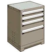 "Rousseau Metal Heavy Duty Modular Drawer Cabinet 4 Drawer Bench High 24""W - Light Gray"