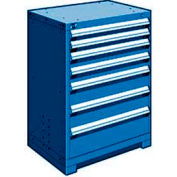 """Rousseau Metal Heavy Duty Modular Drawer Cabinet 7 Drawer Counter High 30""""W - Avalanche Blue"""