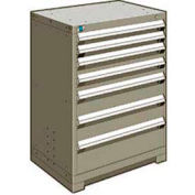"Rousseau Metal Heavy Duty Modular Drawer Cabinet 7 Drawer Counter High 30""W - Light Gray"