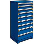 """Rousseau Metal Heavy Duty Modular Drawer Cabinet 9 Drawer Full Height 30""""W - Avalanche Blue"""