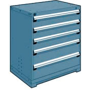 """Rousseau Metal Heavy Duty Modular Drawer Cabinet 5 Drawer Counter High 36""""W - Everest Blue"""