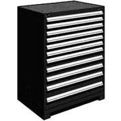 "Rousseau Metal Heavy Duty Modular Drawer Cabinet 11 Drawer Counter High 36""W - Black"