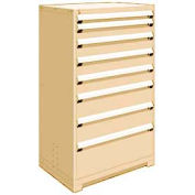"Rousseau Metal Heavy Duty Modular Drawer Cabinet 8 Drawer Full Height 36""W - Beige"