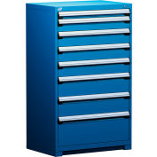 """Rousseau Metal Heavy Duty Modular Drawer Cabinet 8 Drawer Full Height 36""""W - Avalanche Blue"""