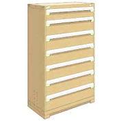"Rousseau Metal Heavy Duty Modular Drawer Cabinet 7 Drawer Full Height 36""W - Beige"