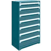 "Rousseau Metal Heavy Duty Modular Drawer Cabinet 7 Drawer Full Height 36""W - Everest Blue"