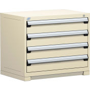 "Rousseau Metal Heavy Duty Modular Drawer Cabinet 4 Drawer Bench High 36""W - Beige"