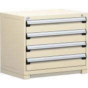 "Rousseau Metal Heavy Duty Modular Drawer Cabinet 4 Drawer Bench High 36""W - Beige"
