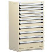 "Rousseau Metal Heavy Duty Modular Drawer Cabinet 11 Drawer Full Height 36""W - Beige"