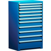 """Rousseau Metal Heavy Duty Modular Drawer Cabinet 11 Drawer Full Height 36""""W - Avalanche Blue"""