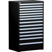 "Rousseau Metal Heavy Duty Modular Drawer Cabinet 14 Drawer Full Height 36""W - Black"