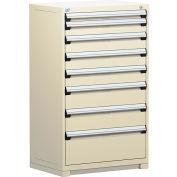 "Rousseau Metal Heavy Duty Modular Drawer Cabinet 8 Drawer Full Height 36""W - Beige"