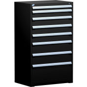 "Rousseau Metal Heavy Duty Modular Drawer Cabinet 8 Drawer Full Height 36""W - Black"