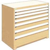 "Rousseau Metal Heavy Duty Modular Drawer Cabinet 7 Drawer Counter High 48""W - Beige"