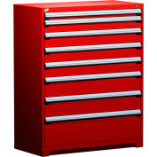 """Rousseau Metal Heavy Duty Modular Drawer Cabinet 8 Drawer Full Height 48""""W - Red"""