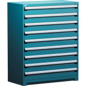 "Rousseau Metal Heavy Duty Modular Drawer Cabinet 9 Drawer Full Height 48""W - Everest Blue"