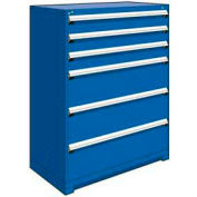 """Rousseau Metal Heavy Duty Modular Drawer Cabinet 6 Drawer Full Height 48""""W - Avalanche Blue"""