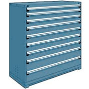 "Rousseau Metal Heavy Duty Modular Drawer Cabinet 9 Drawer Full Height 60""W - Everest Blue"