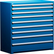 "Rousseau Metal Heavy Duty Modular Drawer Cabinet 9 Drawer Full Height 60""W - Avalanche Blue"