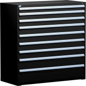 "Rousseau Metal Heavy Duty Modular Drawer Cabinet 9 Drawer Full Height 60""W - Black"