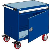 """Rousseau Metal 1 Drawer Heavy-Duty Mobile Modular Drawer Cabinet - 30""""Wx21""""Dx35-1/4""""H Avalanche Blue"""