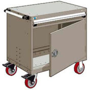 """Rousseau Metal 1 Drawer Heavy-Duty Mobile Modular Drawer Cabinet - 30""""Wx21""""Dx35-1/4""""H Light Gray"""