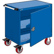 """Rousseau Metal Heavy-Duty Mobile Modular Drawer Cabinet - 30""""Wx21""""Dx37-1/2""""H Avalanche Blue"""