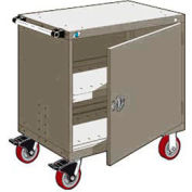 "Rousseau Metal Heavy-Duty Mobile Modular Drawer Cabinet - 30""Wx21""Dx37-1/2""H Light Gray"
