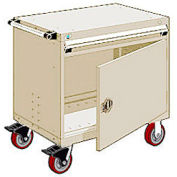 """Rousseau Metal 1 Drawer Heavy-Duty Mobile Modular Drawer Cabinet - 30""""Wx27""""Dx35-1/2""""H Beige"""