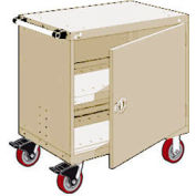 "Rousseau Metal Heavy-Duty Mobile Modular Drawer Cabinet - 36""Wx18""Dx37-1/2""H Beige"