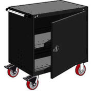 "Rousseau Metal Heavy-Duty Mobile Modular Drawer Cabinet - 36""Wx18""Dx37-1/2""H Black"