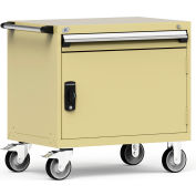 """Rousseau Metal 1 Drawer Heavy-Duty Mobile Modular Drawer Cabinet - 36""""Wx24""""Dx35-1/2""""H Beige"""