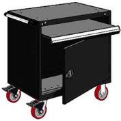 "Rousseau Metal Heavy-Duty Mobile Modular Drawer Cabinet - 36""Wx24""Dx37-1/2""H Black"
