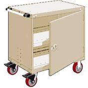 "Rousseau Metal Heavy-Duty Mobile Modular Drawer Cabinet - 36""Wx24""Dx37-1/2""H Beige"