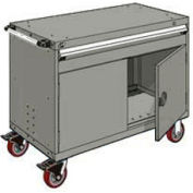 """Rousseau Metal 1 Drawer Heavy-Duty Mobile Modular Drawer Cabinet - 48""""Wx27""""Dx37-1/2""""H Light Gray"""