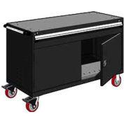 "Rousseau Metal 1 Drawer Heavy-Duty Mobile Modular Drawer Cabinet - 60""Wx27""Dx37-1/2""H Black"