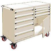 """Rousseau 9 Drawer Heavy-Duty Double Mobile Modular Drawer Cabinet - 60""""Wx27""""Dx45-1/2""""H Beige"""