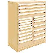 "Rousseau Metal 20 Drawer Full Height 48""W Multi-Drawer Cabinet - Beige"