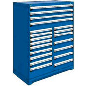 """Rousseau Metal 20 Drawer Full Height 48""""W Multi-Drawer Cabinet - Avalanche Blue"""