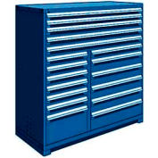 """Rousseau Metal 18 Drawer Full Height 60""""W Multi-Drawer Cabinet - Avalanche Blue"""