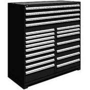 "Rousseau Metal 20 Drawer Full Height 60""W Multi-Drawer Cabinet - Black"